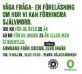 SUICIDE ZERO - VÅGA FRÅGA - EN STÖDKONSERT