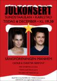 Julkonsert - Sångföreningen Manhem - Cecilie & Christer Nerfont